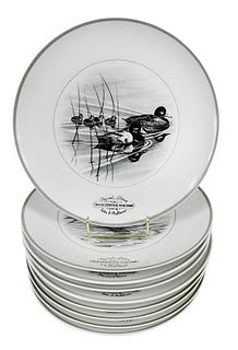 Nine Abercrombie & Fitch Federal Duck Stamp Plates