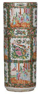 Chinese Rose Medallion Porcelain Umbrella Stand
