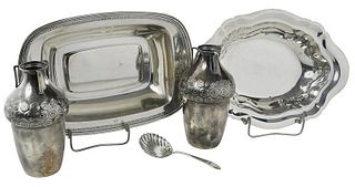 Five Silver Table Items