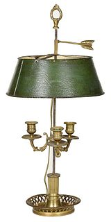 French Bouillotte Three Arm Table Lamp