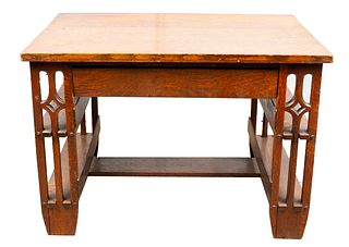 Arts & Crafts Oak Desk