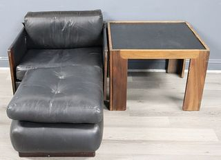 """Cassina Afra  And Tobia """"920"""" Chair & Ottoman"""