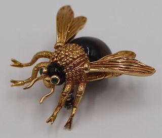 JEWELRY. Van Cleef & Arpel Bee Form Brooch.