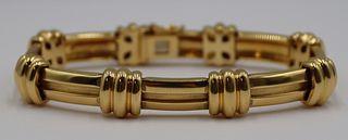 JEWELRY. Tiffany & Co. 18kt Gold Bracelet.