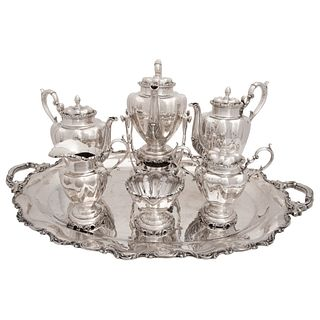 COFFEE AND TEA SET MEXICO, 20TH CENTURY, STERLING SILVER 0.925, 10075 g