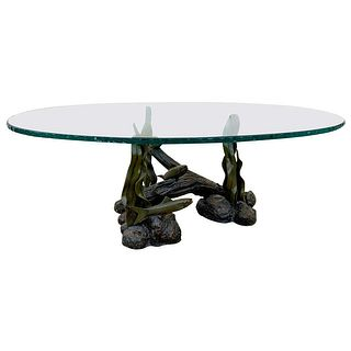 Sea Creatures Coffee Table in Bronze & Glass
