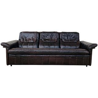 3-Seat Leather Sofa by De Sede, Switzerland