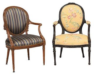 Two British Open Armchairs