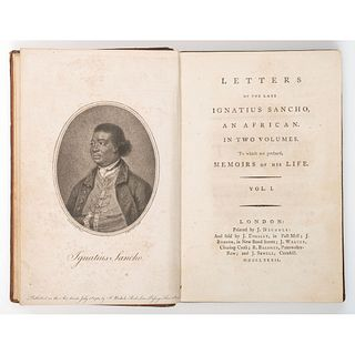 SANCHO, Ignatius (circa 1729?-1780). Letters of the Late Ignatius Sancho, An African. In Two Volumes.
