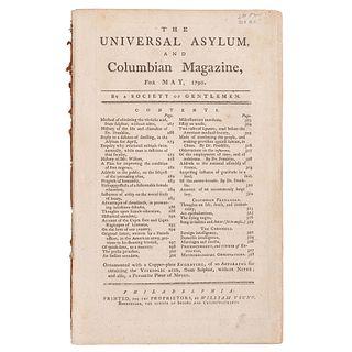[SLAVERY & ABOLITION] -- [FRANKLIN, Benjamin (1706-1790)]. The Universal Asylum, and Columbian Magazine.
