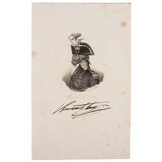 [LOUVERTURE, Toussaint. (1743-1803)]. DELPHEC, Francois Seraphim, lithographer, after Nicolas Eustache Maurin. Toussaint Louverture.