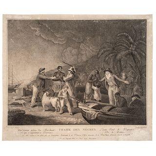 "[SLAVERY & ABOLITION]. ROLLET, ""Citoyenne,"" engraver, after John Raphael Smith, after George Morland. Traite Des Nêgres."