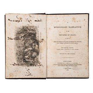 [AFRICA] YOUNG, Samuel. A Missionary Narrative of the Triumphs of Grace. 1843.