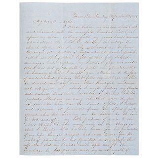 [SLAVERY & ABOLITION]. Anti-Abolition Letter, Worcester, [MA], 5 September 1852.