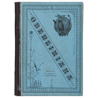 [SLAVERY & ABOLITION]. SHUMWAY, A.L. -- BROWER, C. DeW. Oberliniana: A Jubilee Volume of Semi-Historical Anecdotes connected with the Past and Present