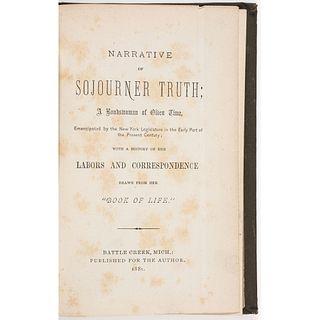 TRUTH, Sojourner (ca 1797-1883), [Olive GILBERT (1801-1884) and Lloyd GARRISON (1805-1879)]. Narrative of Sojourner Truth: A Bonds-Woman of Olden Time