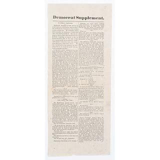 [DOUGLASS, Frederick (1818-1895)]. Monterey Democrat. Vol. XIII, No. 49. Salinas City, CA: J.W. Leigh, 6 November 1880.