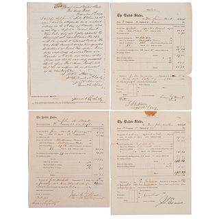 [BUFFALO SOLDIERS]. Group of 5 documents associated with the 10th US Cavalry and 24th US Infantry, comprising: