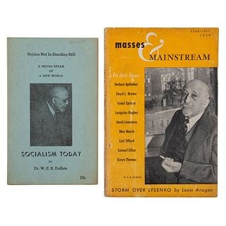 DU BOIS, William Edward Burghardt (1868-1963). Socialism Today. Chicago: Afro-American Heritage Association, [ca 1959-60].