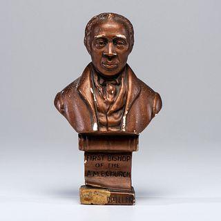[RELIGION -- AFRICAN METHODIST EPISCOPAL CHURCH] -- [ALLEN, Richard (1760-1831)]. HATHAWAY, Isaac (1872-1967), sculptor. Bust of Bishop Richard Allen.