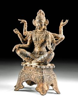 18th C. Indian Iron Seated Goddess - Vasudhara