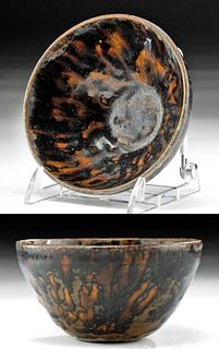 Chinese Song Dynasty Hare's Fur Tea Bowl