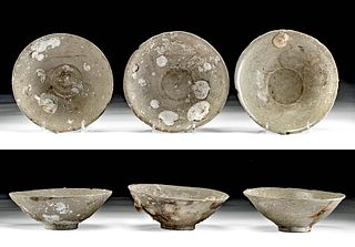 Lot of 3 Chinese Song Dynasty Pottery Bowls