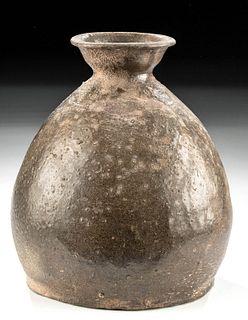 Korean Koryo Dynasty Celadon Glazed Pottery Bottle