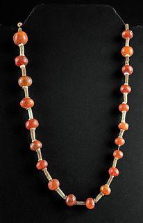 Egyptian Carnelian / Faience Bead Necklace