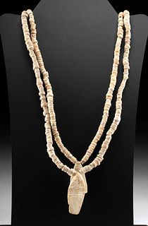 Nazca Double Strand Shell Bead Necklace