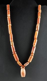 Lot of 2 Tairona Carnelian Bead Necklaces