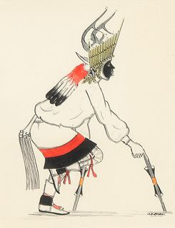 Jose Roybal [Oquwa], Untitled (Deer Dancer)