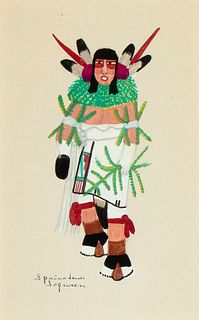 José Encarnacion Peña [Soqween], Untitled (Corn Dancer)