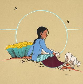 Beatien Yazz, Untitled (Navajo Shepherd Girl)