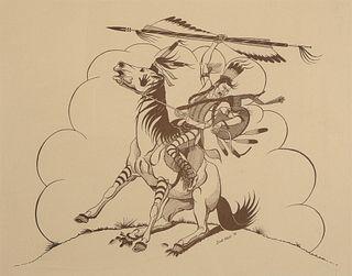 Dick West, Untitled (Cheyenne Warrior), 1976