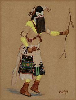 A Group of Three Hopi Kachina Dancer Drawings