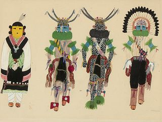 James Louis, Untitled (Kachina Dancers)