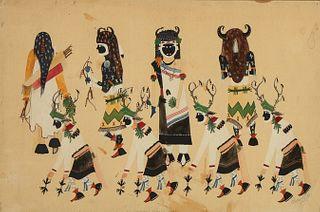 Edmond Tracey [Owipo], San Ildefonso Buffalo Dance