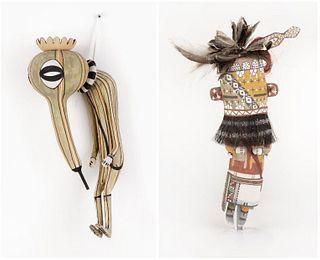 Hopi, Clark Tenakhongva, Two Kachinas