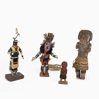 A Group of Four Hopi Kachinas, 20th Century