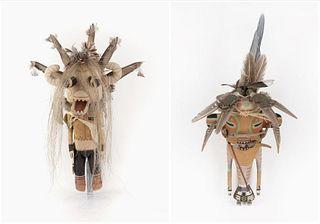 Two Hopi Kachinas - Brent Brokeshoulder, Ferris Satala