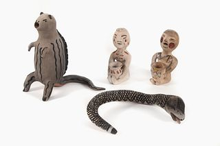 A Group of Four Figural Pottery Items, 20th Century