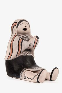 Cochiti, Helen Cordero, Storyteller with One Child, ca. 1965