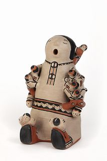 Cochiti, Rita Lewis, Group of Four Storyteller Figures
