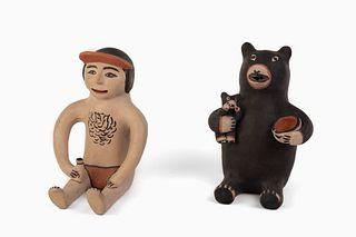 Two Cochiti Figures, 20th Century