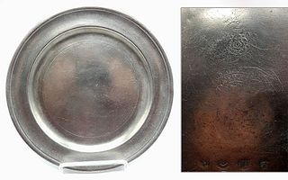 Pewter Plate by Frederick Bassett