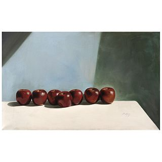 "MARTHA CHAPA, Untitled, Signed and dated 86, Oil on canvas, 29.7 x 47.2"" (75.5 x 120 cm)"