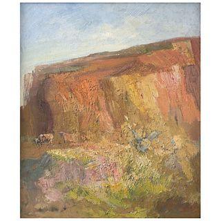 """HERMENEGILDO SOSA, Cascada de luz, Signed on front, Dated 2004 on back, Oil on canvas, 23.6 x 19.6""""2 (60 x 50 cm)"""