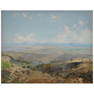 "ISIDRO MARTÍNEZ COLÍN, Paisaje, Signed, Oil on canvas, 15.7 x 19.6"" (40 x 50 cm)"