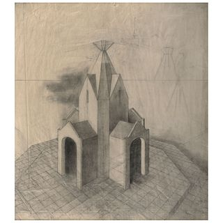 "REMEDIOS VARO, Estudio para Microcosmos o Determinismo, Unsigned, Graphite pencil on paper, 25.9 x 22.8"" (66 x 58 cm), Document"